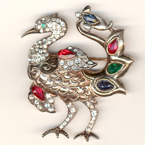 Trifari Sterling 'Alfred Philippe' Phoenix Pin